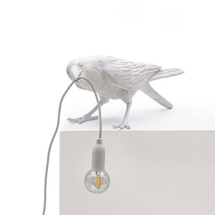 Seletti Bird Lamp Playing - Black and White