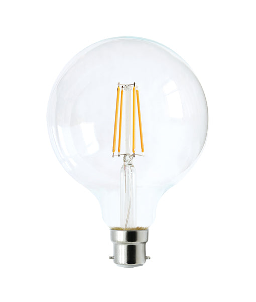 LED Filament Dimmable Globes G95 B22 6W Set of 2