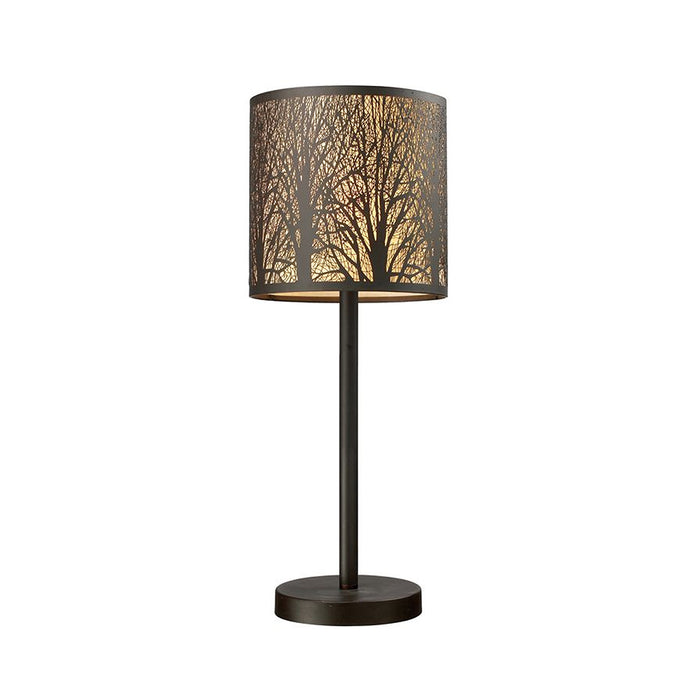 AUTUMN Aged Bronze with Amber Lining Table Lamp
