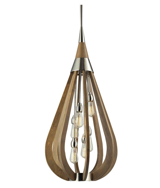 BONITO Taupe Wood Tear Drop Pendant Lights