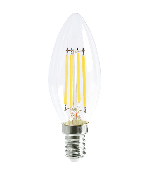 LED Filament Dimmable Globes Candle E14 4W Set of 4