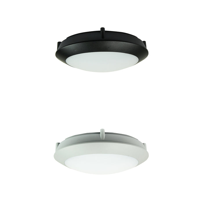 DURO.20 Black/Grey LED IP66 Double Insulated Bulkhead Light