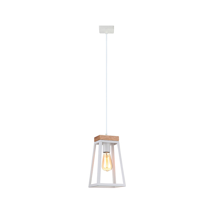 LANTERNA Wood Trapezium Pendant Lights