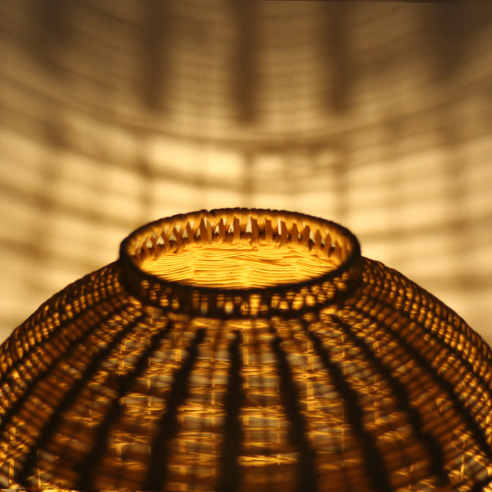 Galena Rattan Table Lamp