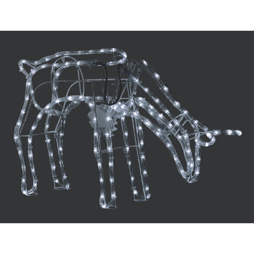 3D Illuminated LED Reindeer Stand Feeding with Motor | Three Colour Options