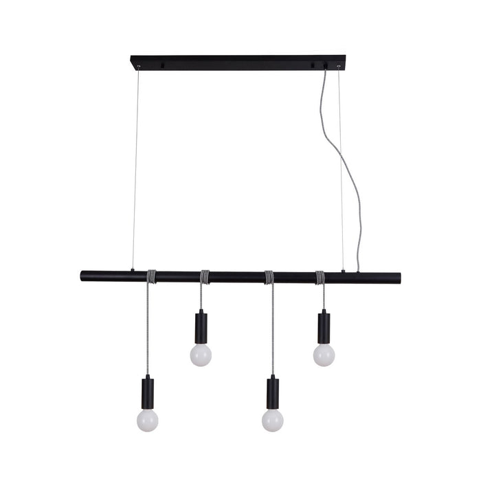 Bikkel 4 Lights Pendant Light  Black
