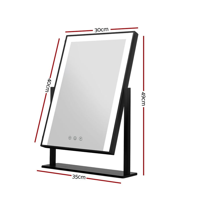 Hollywood Makeup Mirror With Light LED Strip Standing Tabletop Vanity