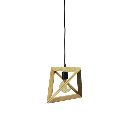 Trap Triangle Pendant Light Black Suspension