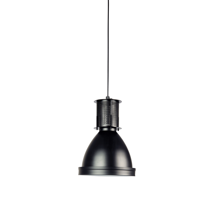 Bay Black Industrial Single Pendant Light