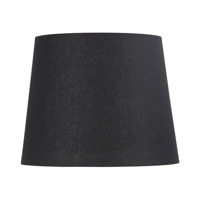 38cm Black Linen Hardback Lamp Shade