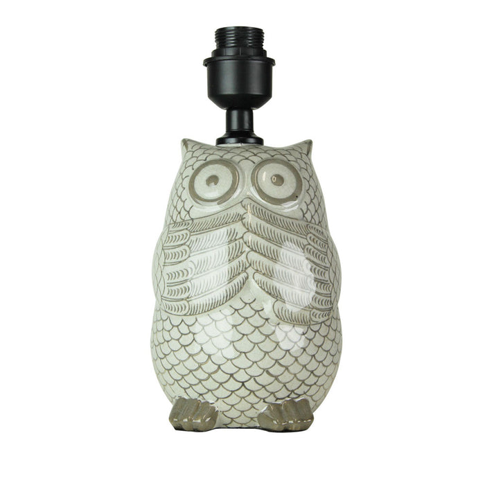 OWL CERAMIC LAMP BASE
