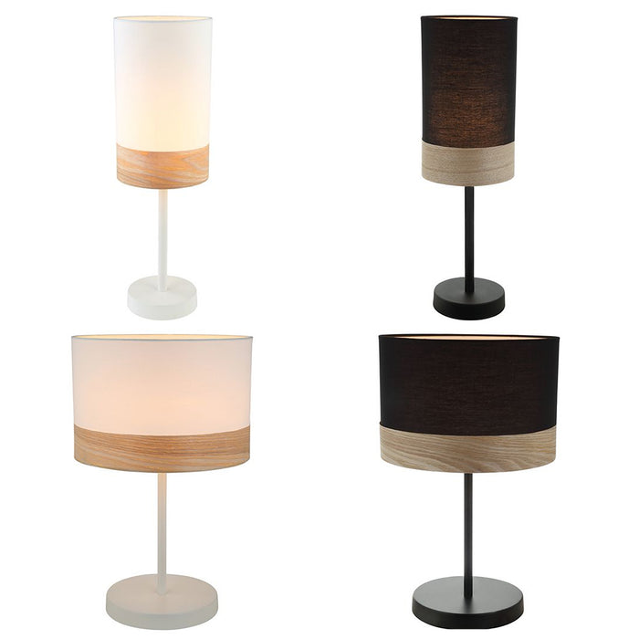 TAMBURA Small Oblong or Round Shape Table Lamps