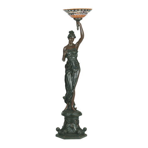 Greek Goddess Left Art Deco Floor Lamp