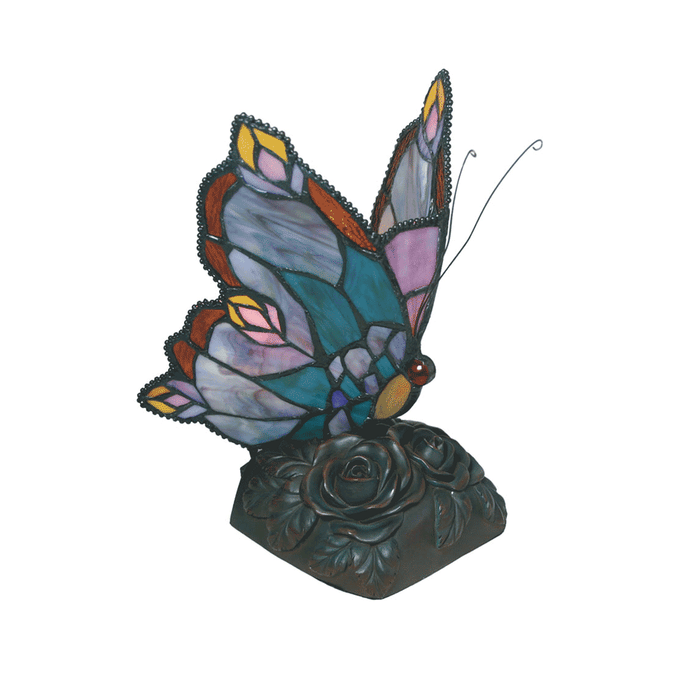 Blue Butterfly Tiffany Table Lamp