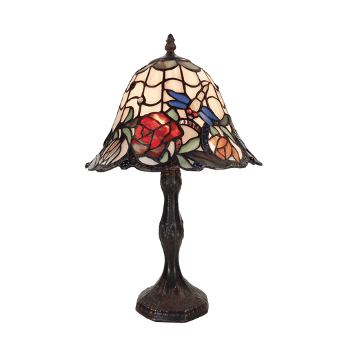 Rose and Dragonfly Tiffany Table Lamp