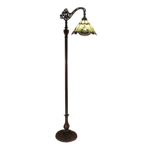 Benita Edwardian Tiffany Floor Lamp Jade