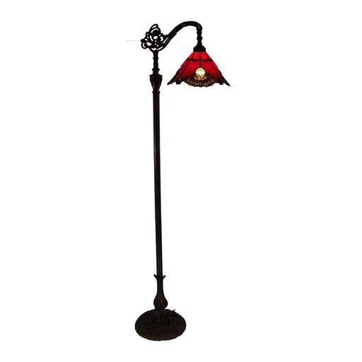 Benita Edwardian Tiffany Floor Lamp Red