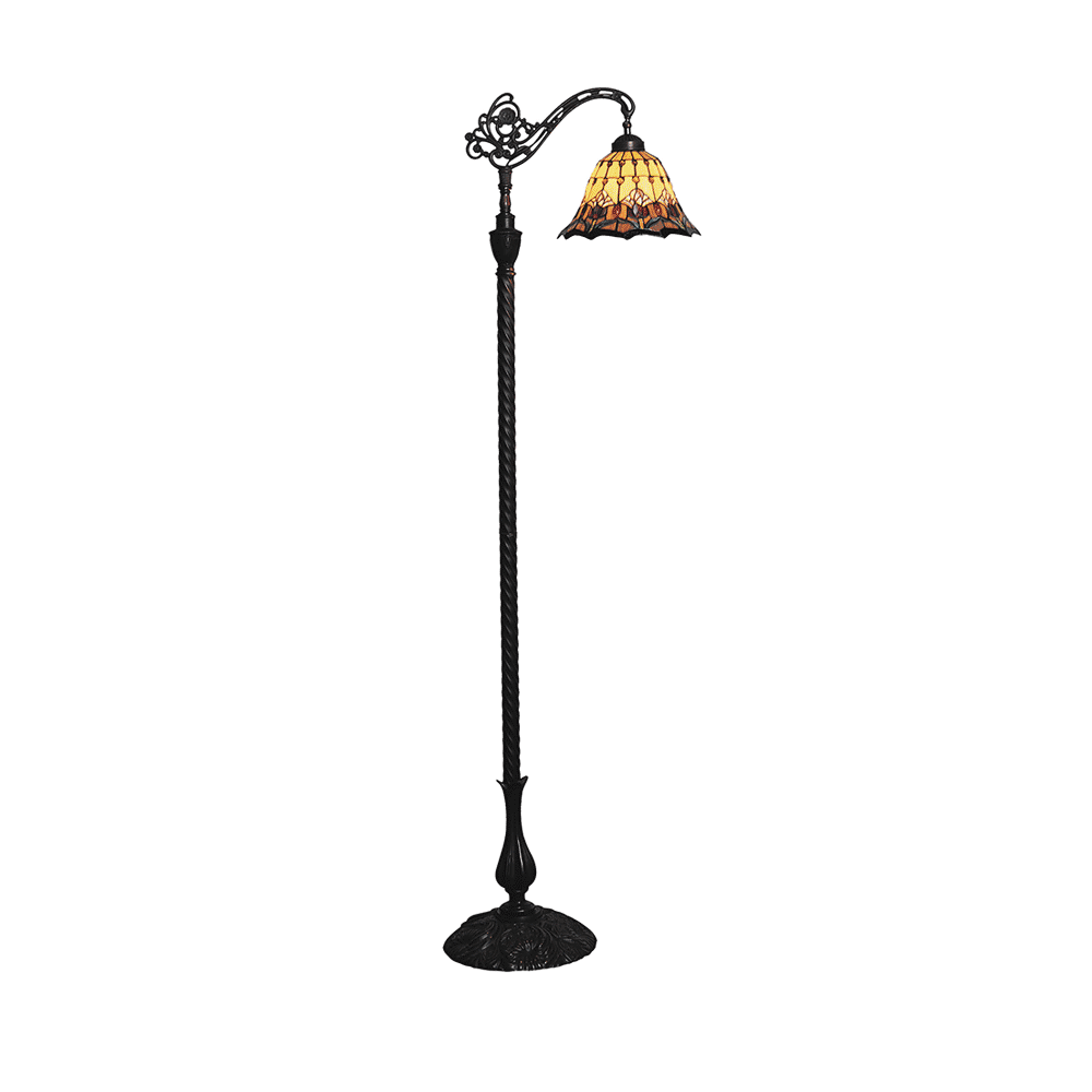 Tulip Edwardian Tiffany Floor Lamp