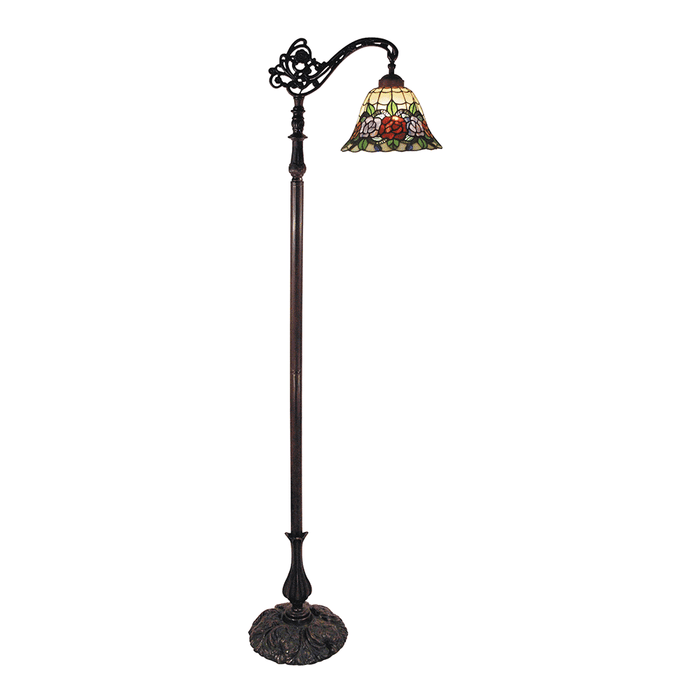 Rose Edwardian Tiffany Floor Lamp