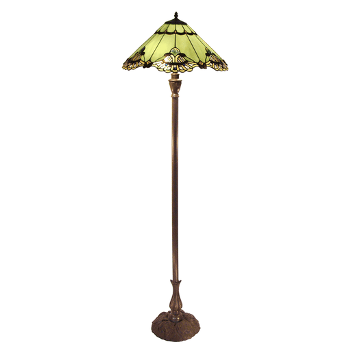 Benita Leadlight Tiffany Floor Lamp - Jade