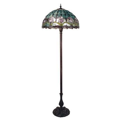 Mauve Tulip Tiffany Floor Lamp