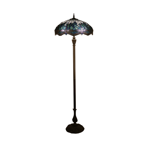 Dragonfly Tiffany Floor Lamp - Blue