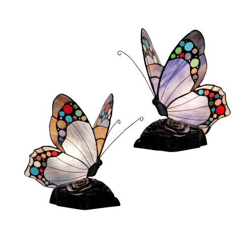 Spotted Butterfly Tiffany Table Lamp