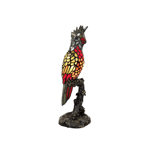 Parrot Tiffany Table Lamp