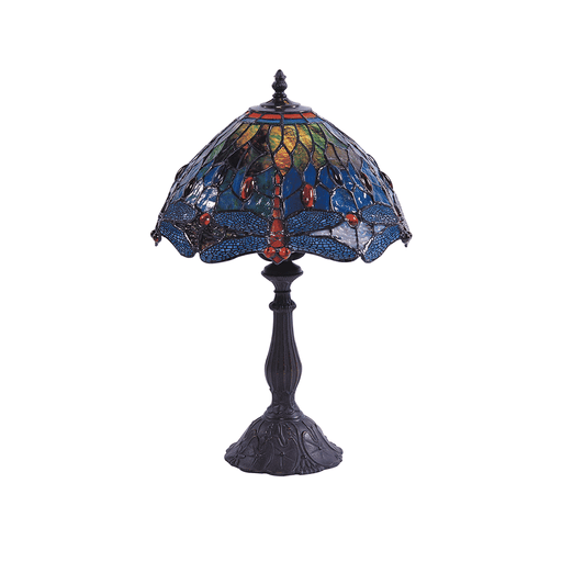 Dragonfly Tiffany Table Lamp - Blue