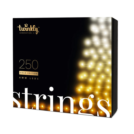 Twinkly App-Controlled 250 AWW LED String_Gold Edition_Generation II