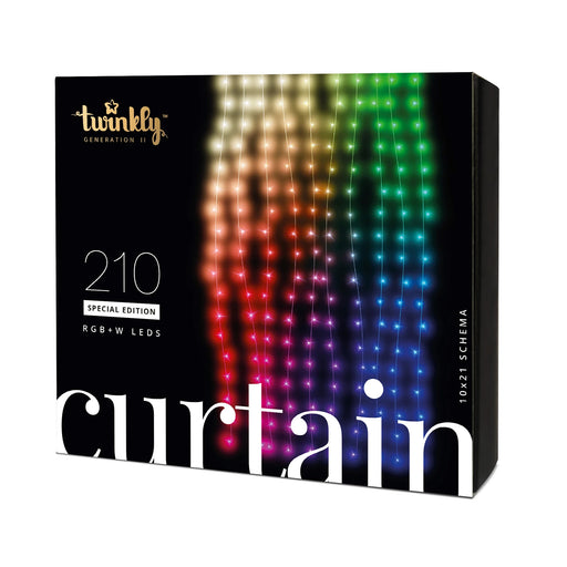 Twinkly Special Edition Curtain Light 210 RGB+W LED_Clear Wire_Generation II