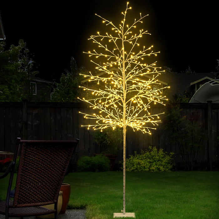 2.1M LED Christmas Branch Tree 480 LED Xmas Warm White Optic Fiber