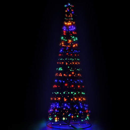 Jingle Jollys 3.6M LED Christmas Tree Lights 400 LED Xmas Multi Colour Optic Fiber