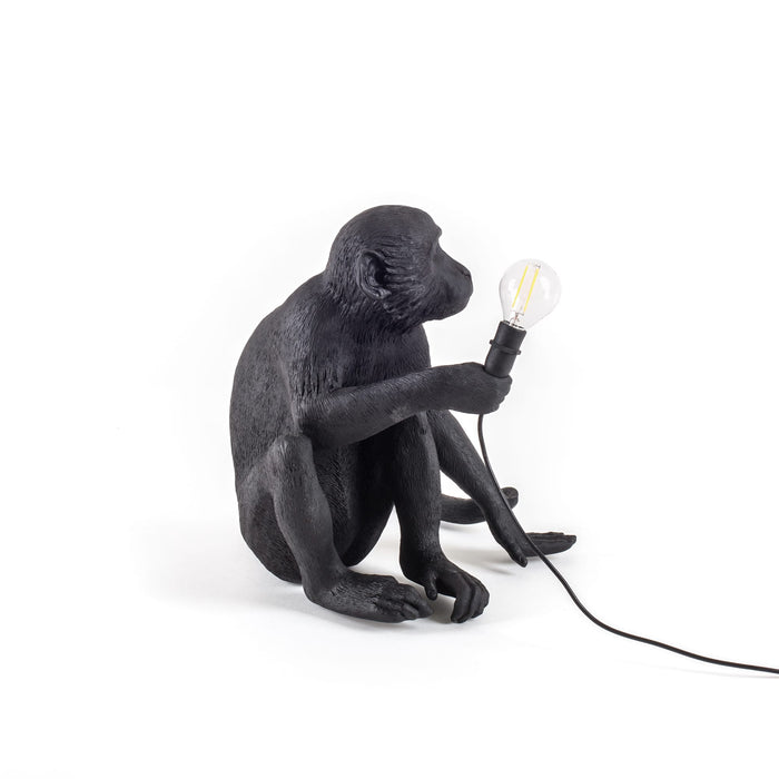 Seletti Sitting Monkey Table Lamp - Black