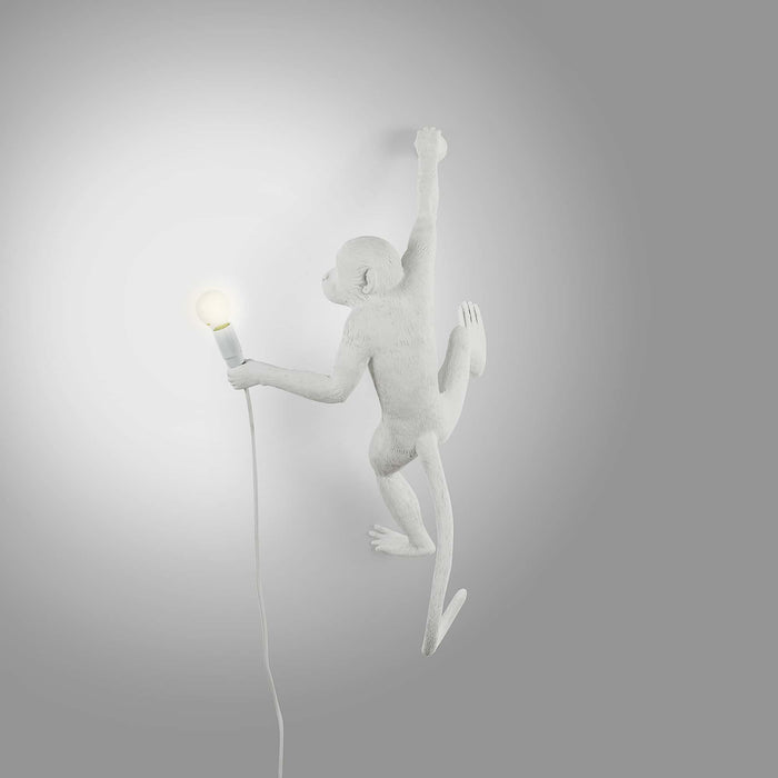 Seletti Wall Hanging Monkey Light White | Lefty and Righty