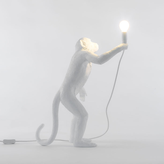 Seletti Standing Monkey Lamp - White