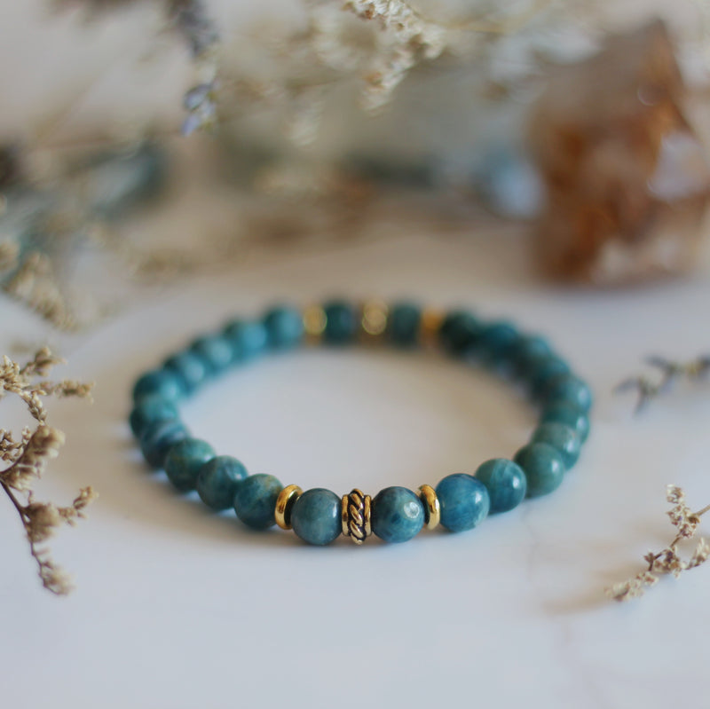 Blue Apatite Tightrope