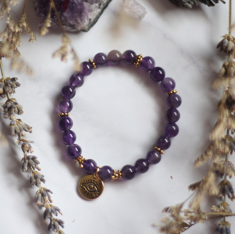 Amethyst with Evil Eye