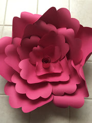 Template Paper Flower No1