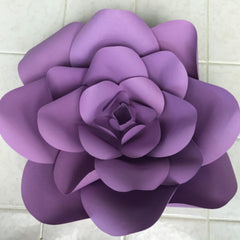 Template Paper Flower No2