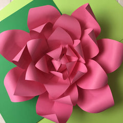Template Paper Flower No3 For Silhouette Cameo or Cricut