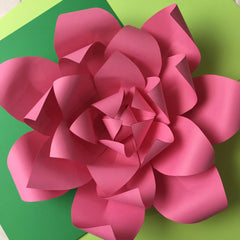 Template Paper Flower No3