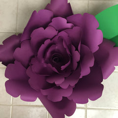 Template Paper Flower No4
