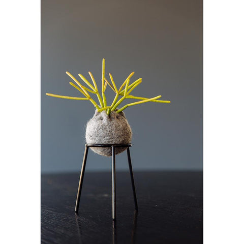airplantman kokedama wool felt handmade rhipsalis design decor gift