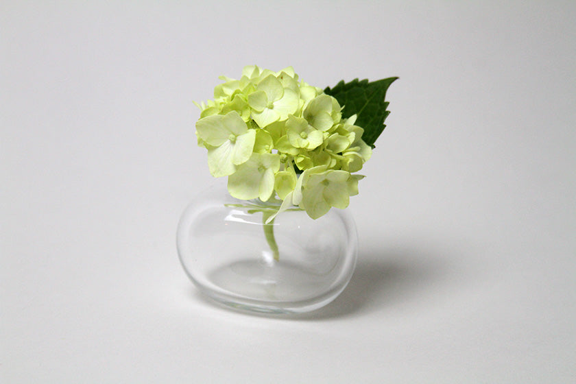 Flower Bud Vase Riverstone - Clear