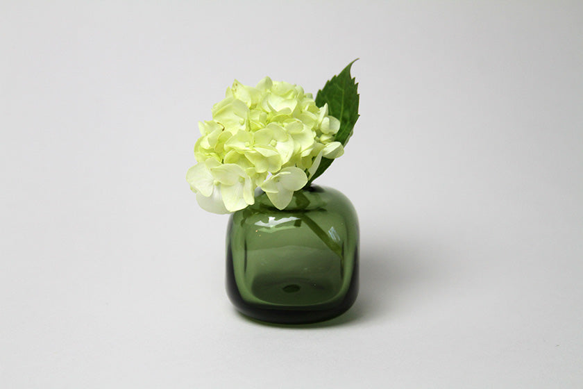 Flower Bud Vase Square - Forest Green
