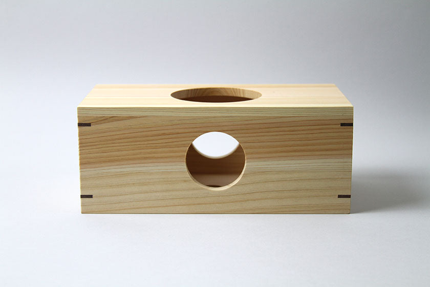Tosa Ryu Hinoki Tissue Box Rectangular