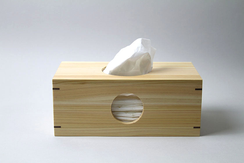 Hinoki Rectangular Tissue Box - Tosa Ryu