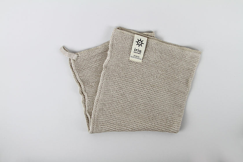 Iris Hantverk Knitted Small Bath Towel (Natural)