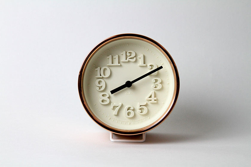 Lemnos Chiisana Copper Table Clock by Riki